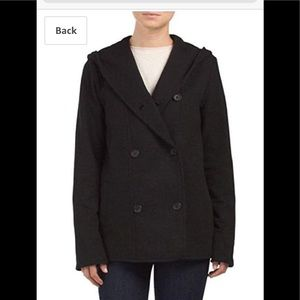 James Perse double breasted hooded jacket. NWT